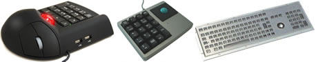 цифровая клавиатура, трекбол