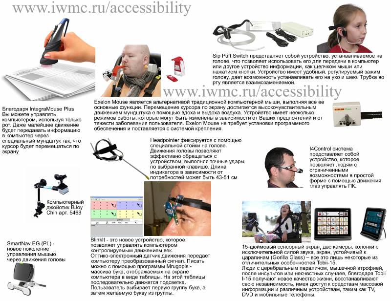 Инваграфика, альтернативные устройства ввода информации без рук, эргономичная мебель компьютер для инвалида