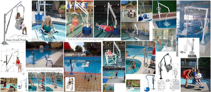 Стационарные электрические и гидравлические подъемники для бассейна
