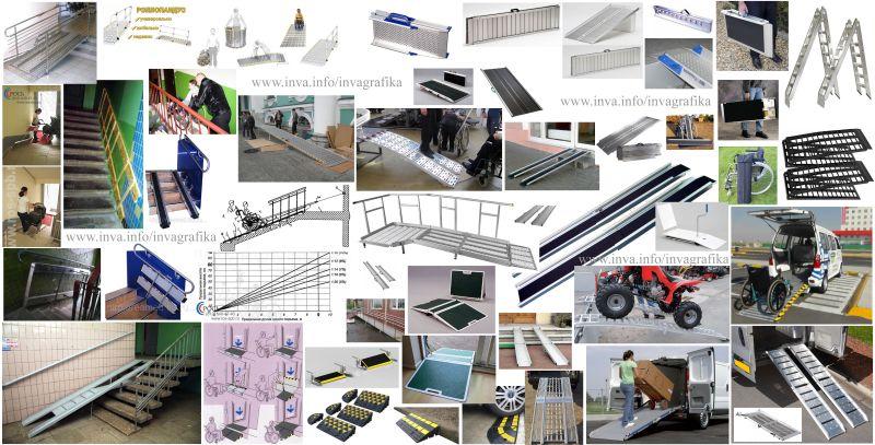 Мобильные пандусы и переносные рампы для использования в помещениях, на улице, в транспорте